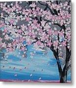 Windswept Blossoms Metal Print