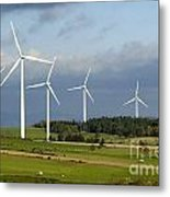 Windturbines Metal Print by Bernard Jaubert