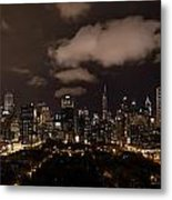 Windy City At Night Metal Print