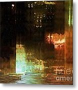 Windy City Night Metal Print