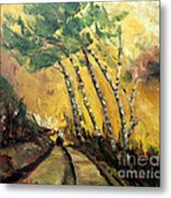 Windy Countryside Day Metal Print