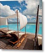 Windy Day At Maldives Metal Print