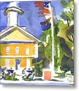 Windy Day At The Courthouse Metal Print