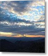 Windy Point Sunset Metal Print