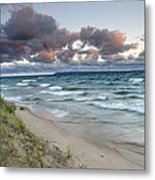 Windy Sunrise Metal Print