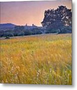 Windy Sunset At The Medieval Castle Metal Print