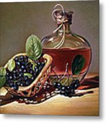 Wine And Berries Metal Print