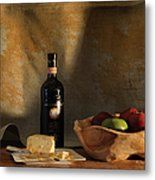 Wine And Cheese 1 Metal Print