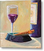 Wine And Cigar Metal Print by Todd Bandy