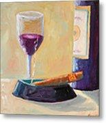 Wine And Cigar Metal Print