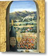 Wine And Poppies Metal Print by Marilyn Dunlap