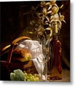 Wine And Romance Metal Print
