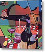 Wine And Roses Metal Print