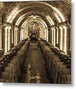 Wine Barrel Barrage Metal Print