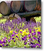 Wine Barrels At V. Sattui Napa Valley Metal Print by Michelle Wiarda