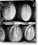 Wine Barrels Metal Print by Scott Pellegrin