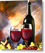 Wine Before And After Metal Print