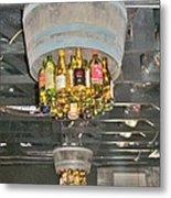 Wine Bottle Chandelier Metal Print