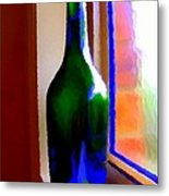 Wine Bottle Metal Print