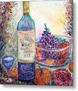 Wine Bottle Selection  Metal Print by Anais DelaVega