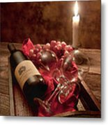 Wine By Candle Light I Metal Print