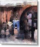 Wine Cellar Photo Art Metal Print