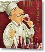 Wine Chef I Metal Print
