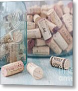 Wine Cork Collection Metal Print by Kay Pickens