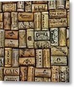 Wine Corks After The Wine Tasting Metal Print by Paul Ward