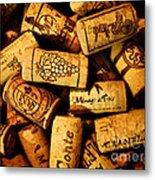 Wine Corks - Art Version Metal Print