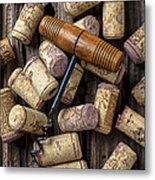 Wine Corks Celebration Metal Print