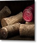 Wine Corks Still Life Iv Metal Print by Tom Mc Nemar