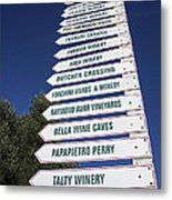 Wine Country Signs Metal Print by Garry Gay
