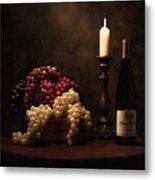 Wine Harvest Still Life Metal Print