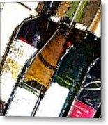 Wine In A Row Metal Print