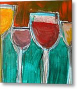 Wine Party 3 Metal Print