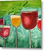 Wine Party Metal Print