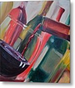 Wine Pour IIi Metal Print by Donna Tuten