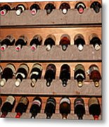 Wine Rack In The Private Dining Room At The Swiss Hotel In Sonoma California 5d24462 Metal Print