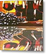 Wine Reflections Metal Print