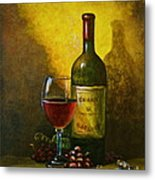 Wine Shadow Ombra Di Vino Metal Print by Italian Art