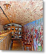 Wine Tasting Room In Castello Di Amorosa In Napa Valley-ca Metal Print