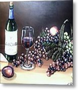 Wine Time Metal Print