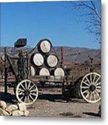 Wine Wagon Metal Print
