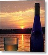 Wine Water Sunset Metal Print