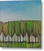 Wineglass Treeline Metal Print
