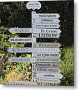 Winery Street Sign In The Sonoma California Wine Country 5d24601 Square Metal Print