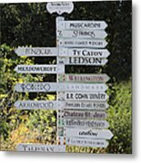 Winery Street Sign In The Sonoma California Wine Country 5d24601 Metal Print