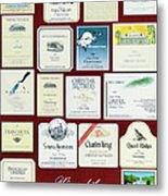 Wines Of The Napa Valley - Series 3 Metal Print