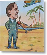 Wing Cdr.clive Caldwell Metal Print by Murray McLeod